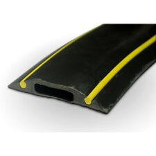 PC229 Rubber Cable Floor Cover Protector Hazard Black Yellow 10cm piece