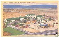 Linen Postcard PATMARS Drive-In & Motel, CA, Unused