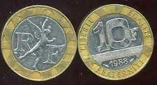 10 FRANCS  GENIE   1988