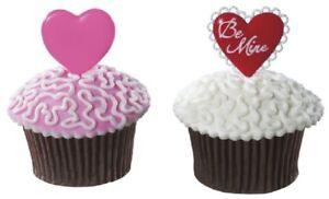 New Valentine's Day Be Mine Hearts Cupcake Picks One Dozen