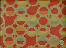 Momentum Nimble Parade Red Abstract Contemporary Geometric Upholstery Fabric