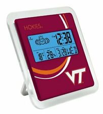 Weather Station Virginia Tech Hokies Digital,Calender,Weather,Alarm,Easel Stand