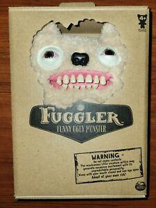 "RARE FUGGLER Funny Ugly Monster * Ol Toothblock White & Blood Shot Eyes 9"" Plush"