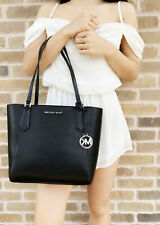 Michael Kors Kimberly Small Bonded Tote handbag Leather Black