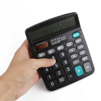 Solar Battery Powered Digital Calculator Desktop Office School Students Gifts