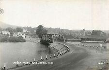 A View Of The Bridge & River, Groveton NH RPPC