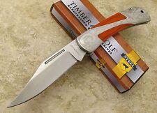 Timber Wolf Scroll Etched Bolster Gentlemans Lockback Folding Blade Pocket Knife
