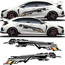 Civic Type R FK8 Mugen track street race side stripes Decals Stickers JDM