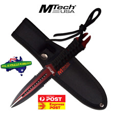 """MTECH USA MT-20-75RD 8.5"""" Double Blade Fantasy Dagger! Awesome Knife! Full Tang!"""