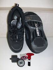HEELYS - Skate Shoes - MEN's SIZE 7 - With Wheels and Tool - LIGHTLY USED - UK 6