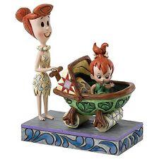Jim Shore Flintstones Bedrock Buggy Wilma with Pebbles in Baby Car 4058334