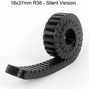 18x37mm R38 Cable Drag Chain Towline Wire Carrier Quiet CNC Router 3D Printer