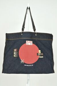 Jean Paul Gaultier Shoulder Bag Vintage handbag city denim leather