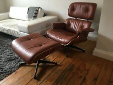 Eames Lounge Chair and Ottoman ex-display - Brandy leather American Cherry