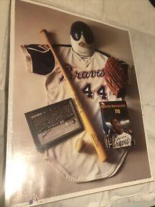 "Vtg Hank Aaron ""715"" Collector Picture poster Memorabilia 1993 #44 Braves MLB"