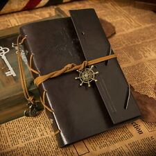 Handmade Travel Bound Fake Leather Cover Notebooks Diary book dark coffee FT