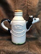 Vintage Cow Milk Bottle Teapot.By S.W.C Teapot Co.Early(Paul Cardew)1986.So Cool