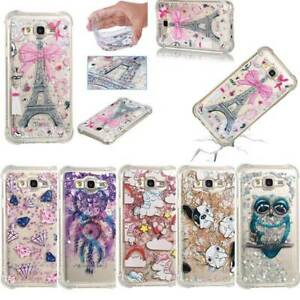 NEW Cute Quicksand Glitter Liquid Dynamic Flowing Case Cover  Fall with Pattern
