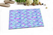 Holographic Mermaid Scales Room Floor Carpet Area Rug Non-skid Kitchen Door Mat