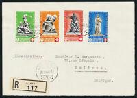SCHWEIZ 1940, MiNr. 364-367, Pro Patria auf FDC Briefvorderseite, Mi. 650,-
