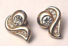 boucles d'oreilles percées bijou vintage perle poire cristal diamant rubis 3918