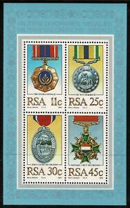 South Africa 1984 Military Decorations Minisheet Complete Set Of Four Stamps-MUH