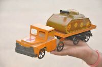 Vintage Wind Up INA 274 Star Mark DCG 786 Litho Tank Truck Tin Toy,Japan?