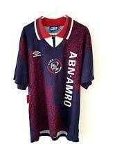 Ajax Away Shirt 1994. Medium. Original Umbro. Blue Adults Football Top Only M.