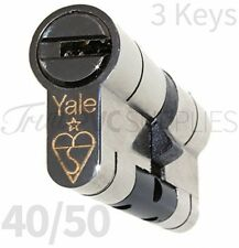 40/50 Nickel YALE Superior Euro Cylinder With 3 Keys Anti Snap / Bump / Pick /