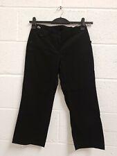 "Womens Lacoste Black Three Quarter Length Trousers Size 36 / UK 8 / Waist 27"""