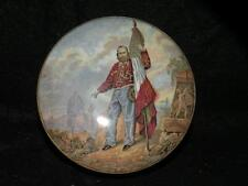 "ANTIQUE PRATTWARE POT LID AND JAR  ""GARIBALDI "" RARE"