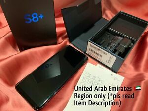 "New-Samsung Galaxy S8+ G955FD Cell Phone (Arab Emirates Region) 6.2"" Black $650"