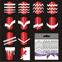 CW_ 5 Sheet French Manicure Nail Art Tips Guide Sticker Polish DIY Stencil Tool