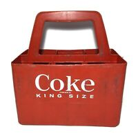 Vintage COCA-COLA Coke King Size RED PLASTIC Six-Pack BOTTLE CARRIER Caddy 6