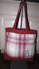 Abercrombie Plaid Canvas Moose Design Tote Bag