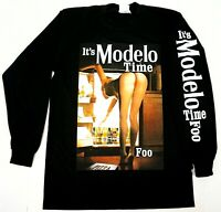 IT'S MODELO TIME FOO Long Sleeve T-shirt Mexico Cerveza Mexican Beer Men's Tee