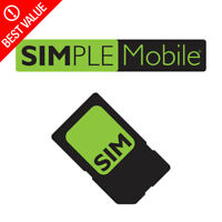Simple Mobile Prepaid SIM Card + $50 Plan Month Truly Unlimited 4G LTE & Hotspot