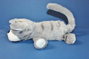 CHUCKLE BUDDIES CAT WORKS GREAT GRAY TABBY HILARIOUSLY FUNNY LAUGHS & ROLLS