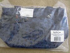New w Tag KIPLING JERIMIAH Tote Travel Shoulder Handbag Optic Dark Blue $104