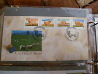 1989 AUSTRALIAN  SHEEP SET OF 4 STAMPS  FIRST DAY COVER