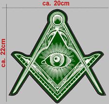 ILLUMINATI SYMBOL, Rückenpatch Aufnäher höhe 22cm X breite20cm