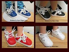 Doll Shoes, Solid WHITE Sporty for Kidz, Magic Attic, BFC inc, Effner Maru,*MSDs