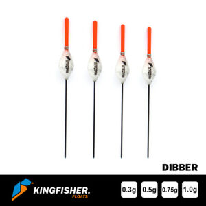"""POLE FISHING FLOATS - The Kingfisher """"Dibber"""" Pack of 4 HIGH QUALITY ROHACELL"""
