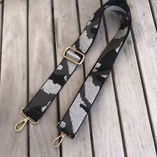 Bag Strap - Fabric Bag Strap Replacement - Grey Silver Black Cameo army Animal