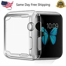 For Apple Watch Series 3 38mm 42mm Soft Clear Bumper Case Screen Cover Protector