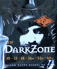 Rotosound DZ10 DarkZone Electric Guitar Strings Gauge 10-60  - Made in the UK