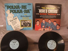 2 Records 1 Price! Richie Vadnal's Orchestra, Here's Cheers / Polka-Re Polka-Ra