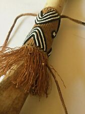 OLD 19th C African TRIBAL DOLL Bone WOVEN Skirt BEADED Authentic