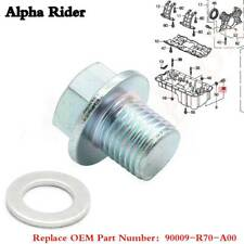 Engine Oil Drain Plug w/Gasket, Bolt Plug,For Honda Civic CR-V HR-V Accord Pilot