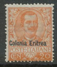 "2154 ITALIAN ERITREA 1903 King Victor Emanuel Italy ""Colonia Eritrea"" 20C UNUSED"
